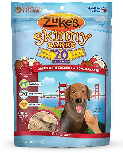 Zuke's Skinny Bakes Dog Treats, Coconut and Pomegranate,  20-Calories, 10-Ounce (Coconut Treats For Dogs)