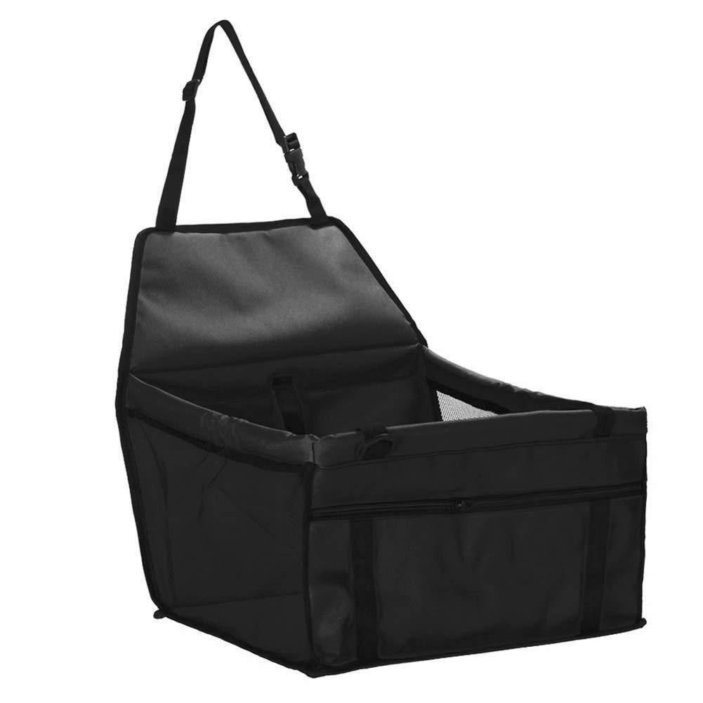 newhashiqi Pet Car Mat Travel Waterproof Pet Dog Car Seat Cover Basket Protection Puppy Carrier Black