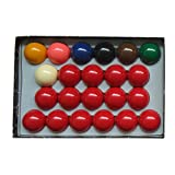 Aska Billiards Snooker Balls Set, 22 Balls Including a Cue Ball, 2 1/16 inch