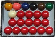 Aska Billiards Snooker Balls Set, 22 Balls Including a Cue Ball