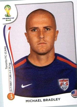 dadce9be9 Amazon.com  2014 Panini World Cup Soccer Sticker  555 Michael Bradley Mint   Collectibles   Fine Art