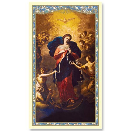 Mary Untier of Knots Holy Card - Powerful and Miraculous Prayer Card (10 pack