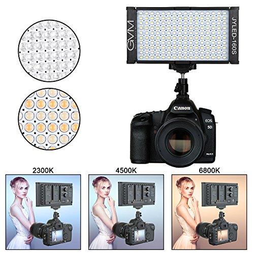 GVM 160 LED Dimmable Ultra High Power Bi-color Panel Light on Digital Camera Camcorder DSLR Video Light for Cannon,Nikon,Sony,Panasonic,Olypus,Lighting