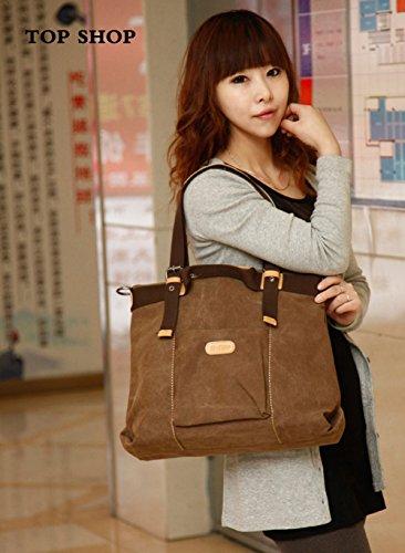 FTSUCQ Tote Bags Casual Shoulder Canvas Messenger Handbags Womens Brown Hobos rWxfnr