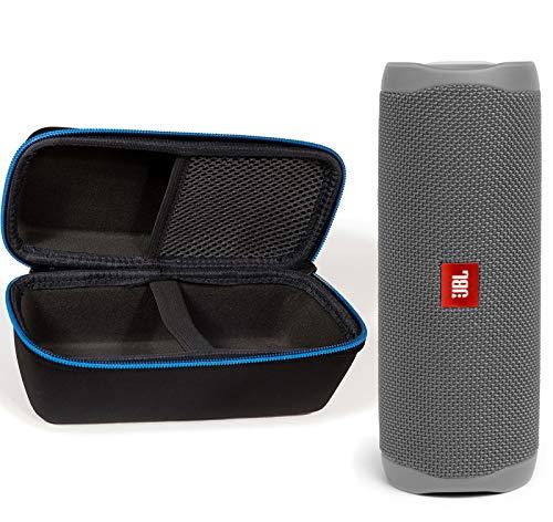 JBL Flip 5 Waterproof Portable Wireless Bluetooth Speaker Bundle with divvi! Protective Hardshell Case – Gray