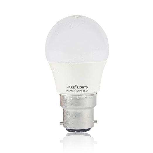 1 Pack – Bombilla LED (B22, 4 W, redonda, diseño de pelota