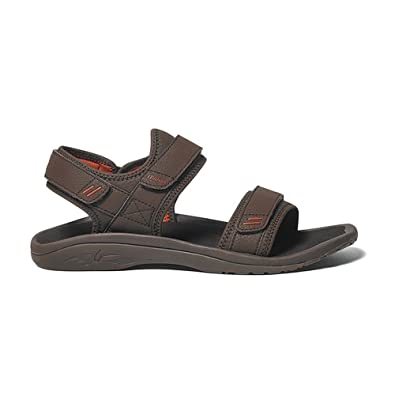 b9dd290390eb OLUKAI Men s Hokua Pahu Dark Java Ember Sandal 8 D ...