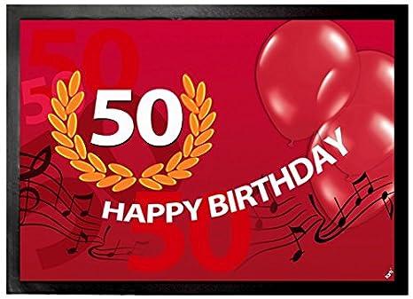Amazon.com: Cumpleaños de puerta Mat piso Mat – Feliz ...