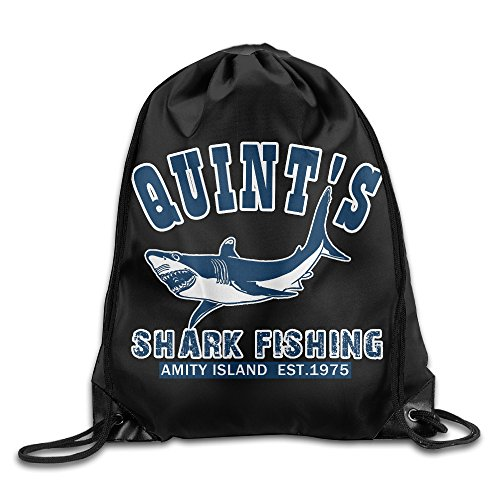 Price comparison product image Quint's Shark Fishing Est 1975 Sack Bag Drawstring Backpack Sport Bag