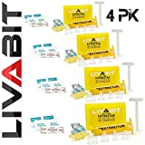 LIVABIT Quad Pack First Response Safety Tool Emergency Kit 4 Gauge Venom Sting Extractor Pump + Bonus CPR Face Shield 4PK