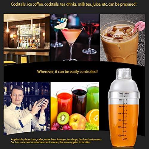 ALBEFY Cocktail Shaker, 700 ml Cocktail Shaker mit Waage, Hergestellt aus Strapazierfähigem PC-Material, Cocktail-Set für Anfänger und Professionelle Barkeeper