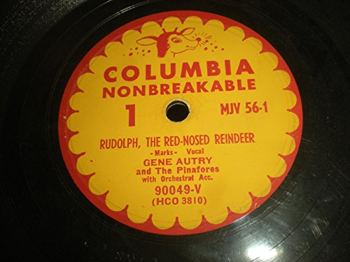 78 RPM, Gene Autry, Rudolph, The Red-Nosed Reindeer, Columbia MJV 56-1 ()