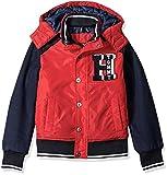 Tommy Hilfiger Boys' Carlton Bomber Jacket, Bullseye Red, X-Large/18-20