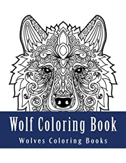 wolf coloring book large one sided relaxation wolves coloring book for grownups relaxing wolf - Wolf Coloring Book