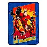 Disney Pixar Incredibles 2,''Family Heroes Micro Raschel Throw Blanket, 46'' x 60'', Multi