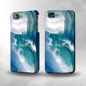 Apple iPhone 4 / 4S Case - The Best 3D Full Wrap iPhone Case - Amazing Oceans Waves