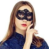 MYMENU Masquerade Mask for Women Luxury Venetian Mask Women's Lace Eye Mask for Masquerade Party Prom Ball Bar Costume Festival Carnival Mardi Gras (Bloom Black)