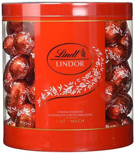 Lindt Lindor Milch Schokoladeneier, circa 81 Lindor Eier aus Vollmilch-Chocolade mit unendlich zartschmelzender Füllung im Köcher, 1440 g