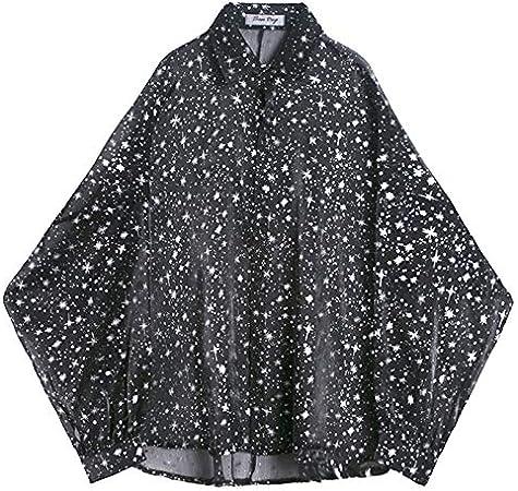 RSL Verano Modelos de diseño Estrellas alternativos de impresión Perspectiva Atractiva sección Delgada Bat Manguito de Malla Camisa Camisa roja Masculina Elegante (Color : Black, Size : One Size): Amazon.es: Hogar