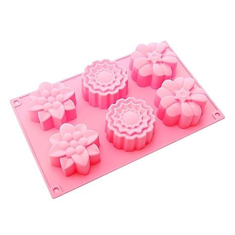 6 BestCool y Rosa moldes para magdalenas de silicona molde ...
