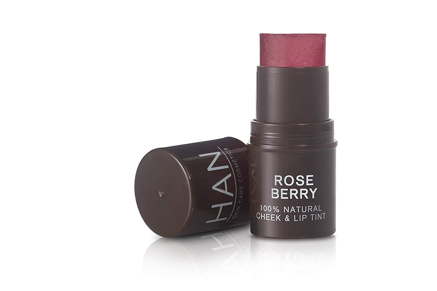 HAN Skincare Cosmetics All Natural Cheek and Lip Tint, Rose Berry