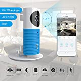 Clever Dog 2Nd Generation 960P 120°Wide Angle Lens Wireless Security Wifi Camera Support Max 128Gb Sd Card / Support Cloud StotageXff08;With Adaptor)(Blue)