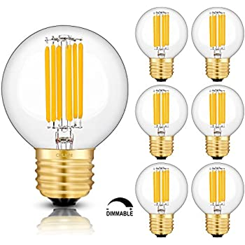 Crlight Led Globe Bulb 6w 2700k Warm White 700lm 60w