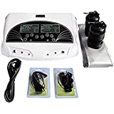 Genmine Ionic Foot Bath Detox Machine, Foot Detoxification Machine, Professional Dual LCD Ion Detox Ionic Foot Bath Spa Cleanse Machine Infrared Belt Large LCD 110V (mothers day gifts)