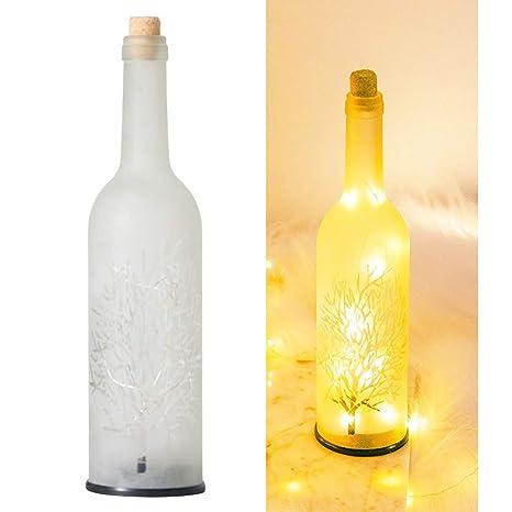 OSALADI Luz de botella Estrella de vino estrellado Luces de ...