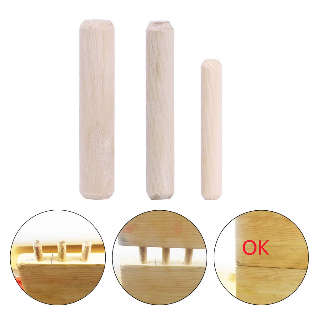 10mm Redondo Ranurado Estriado Enchufe De Madera Clavija Pin Rod DIY Craft Gabinete BIlinli 100 Unids 6//8