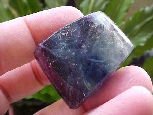 A4819 Gemqz Rainbow Fluorite Drilled Polished for Pendant !!