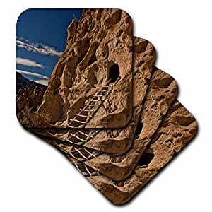 Danita Delimont - Archeology - Ancient Pueblo, Bandelier National Monument, New Mexico, USA - set of 4 Ceramic Tile Coasters (cst_231290_3)