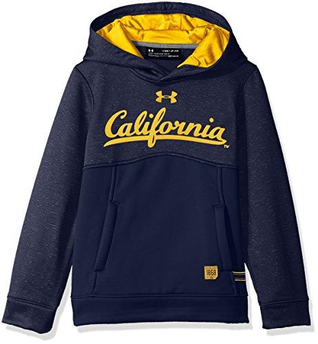Under Armour NCAA California Golden Bears Teen-Boys NCAA Boys Storm Fleece Hood, Large, Black Bears Ncaa Hooded Fleece