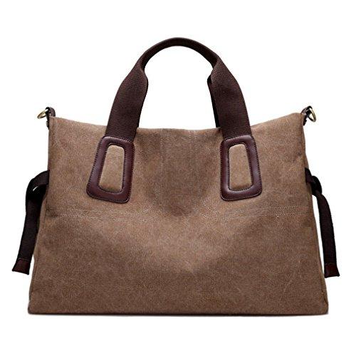 Lady Handbags Satchel Vintage Shoulder Bag Large Travel Tote Messenger Bag (Large Brown) by Sunshinejing