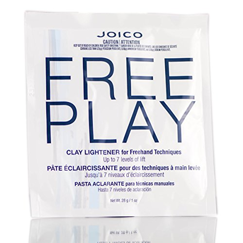 Joico Free Play Clay Lightener for Freehand Techniques, Up to 7 Levels of Lift (includes free Sleek Tint Brush) (1 oz / (Play Clay)