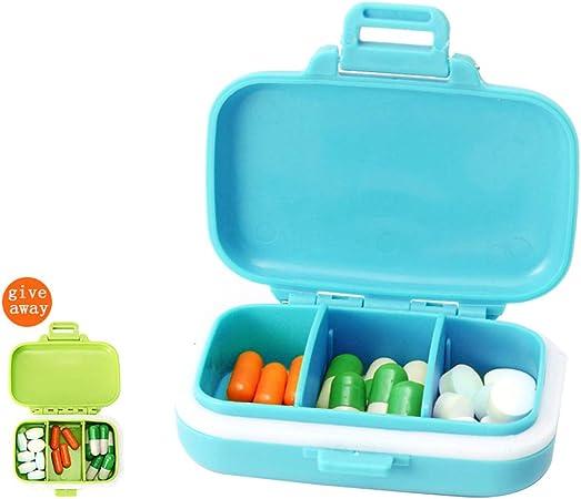 GYUE Caja de píldoras con 3 Cajas de píldoras pequeñas Mini Caja de Almacenamiento de medicamentos, Caja de Pastillas pequeña portátil ecológica pequeña sellada de Viaje-4: Amazon.es: Hogar