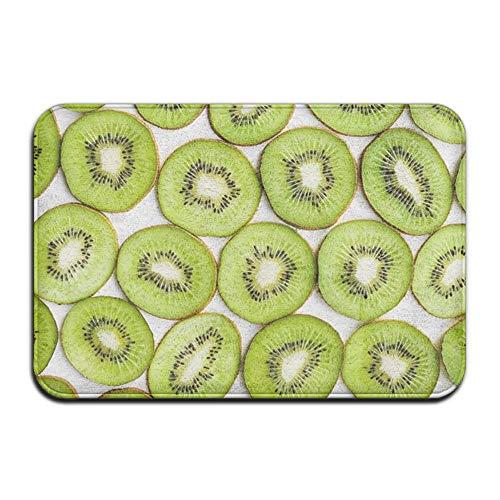 2013beg Kiwi Fruit California Custom Eye-catching Pattern Slip-Resistant Point Plastic Anti-Slip Base 23.6x15.7 inch Protection Floor Cushions Rectangular ()