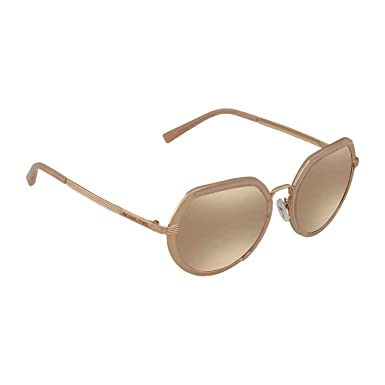 1817fa1fdf33 Image Unavailable. Image not available for. Color: Michael Kors MK1034  32465A Rose Gold Ibiza Round Sunglasses ...