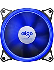 Aigo Aurora 120mm Cooling Fan with Blue LED Halo Ring 3-pin/LP4 Anti-Vibration Pads