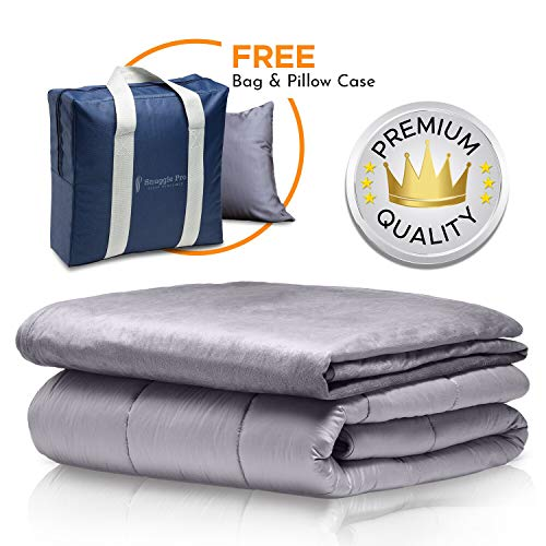 Cheap Snuggle Pro Premium Adult Weighted Blanket & All Season Reversible Cover - 15 lbs Heavy Blanket for Sleeping 48