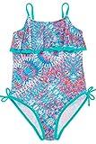 Sociala Big Girls Floral One Piece Swimsuit Summer Beach Bathing Suit 8-9T Blue