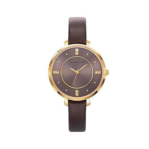 29c322050f65 Viceroy Reloj Analogico para Mujer de Cuarzo con Correa en Cuero 471060-40   Amazon.es  Relojes