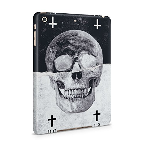 Black & White Realistic Human Skull Card Plastic Tablet Snap On Back Case Cover Shell For iPad Mini 2 & iPad Mini 3]()