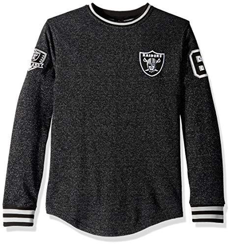 - ICER Brands Men's Standard Fleece Sweatshirt Long Sleeve Shirt Rib Stripe, Team Color, Black, X-Large