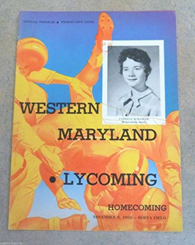 WESTERN MARYLAND LYCOMING (PA) COLLEGE FOOTBALL PROGRAM - 1958 - -