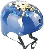 Ideale Helm für BMX Freestyle, Inliner, Skateboard,Totenkopf / blau, 56-58 cm, 46100500