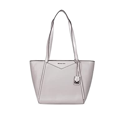 fe9accb8cc73 MICHAEL Michael Kors Whitney Small Pebbled Leather Tote, Color 081 Pearl  Grey: Handbags: Amazon.com
