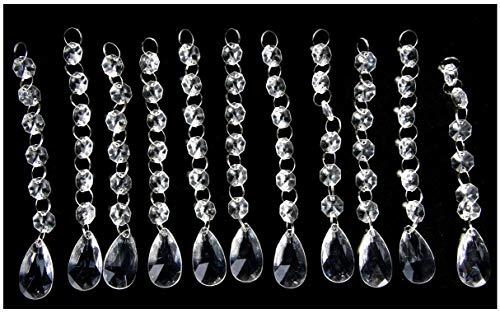 New Style 30PCS Acrylic Crystal Beads Garland Chandelier Hanging Wedding Party Celebration Decor ... (style 1)