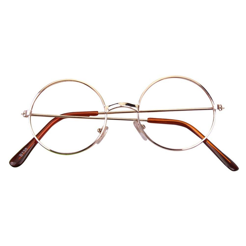Mädchen Junge Brillen - Rund Retro Stil Brille Metall Brillenfassung ...