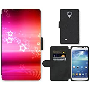Hot Style Cell Phone Card Slot PU Leather Wallet Case // M99999421 Colours of Rainbow // Samsung Galaxy S4 S IV SIV i9500